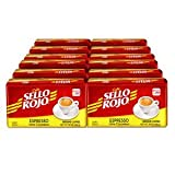 Café Sello Rojo Espresso | 100% Colombian Dark Roast Ground Arabica Coffee | Freshly Vacuum Sealed in Bricks | 10 Ounce (Pack of 12)