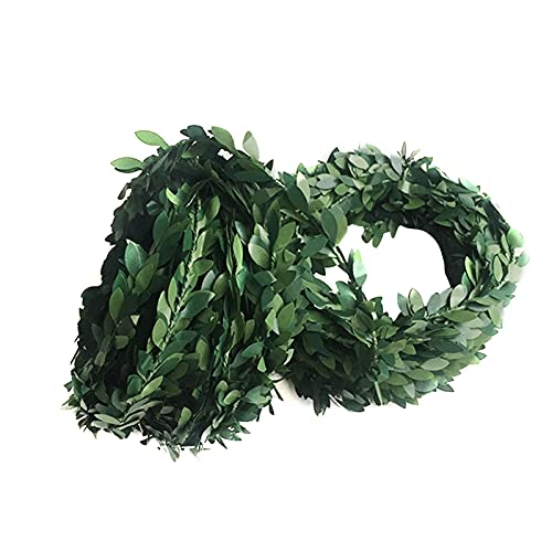 Artificial Rattan Wreath - Green Leaf Laying Vines for Front Door Wall Window Farmhouse Wedding Party Decoration