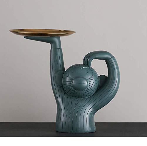 VSander Kreative AFFE Tablett Harz Ornamente Zuhause Wohnzimmer Obstteller Personalisierten Schlüssel Ablageschale L25 * W10 * L25cm (Color : B)