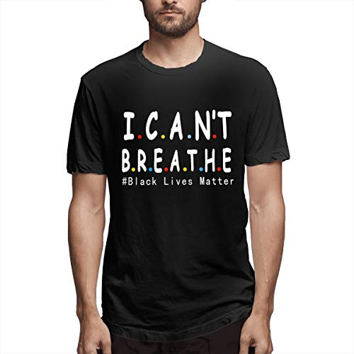Yvonne M Pacheco I Can'T Breathe Black Lives Matter Men'S Short Sleeve Tee T Shirt Tees Casual(Medium,Black)