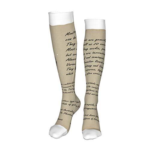 Hlkjos48s Monitor Lizard Breathable Warm Socks Casual Long Sock Women and Men Best Running,Athletic Sports,Crossfit,Flight Travel,Winter