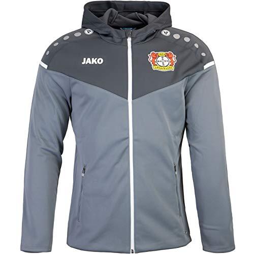 JAKO Bayer 04 Leverkusen Veste d'entraînement à capuche, Gris/anthracite, xl