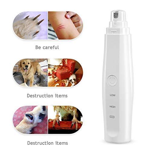 Kat Hond Nagelknipper Nagellak Wit Veiliger dan een schaar Verwondt de vacht en huid van huisdieren niet 2 snelheden USB Oplaadbaar