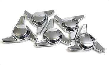 3 Bar Chrome Plastic Spinner Knock Offs Cragar Keystone Center Caps Set of 4