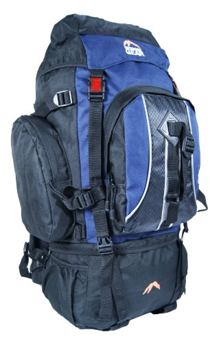 Outdoor Gear 8890 - Zaino da campeggio, nero (blu navy), 70 l