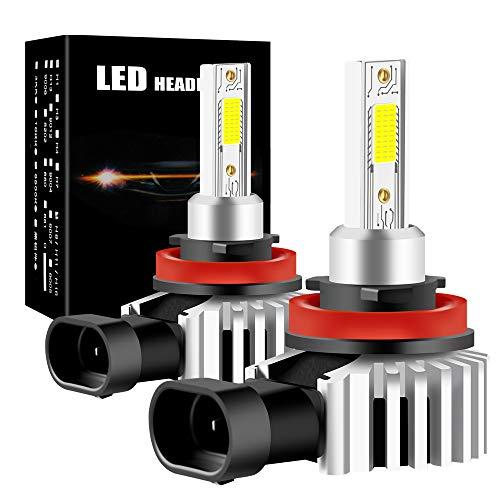 yifengshun H11 H8 Lampadine per Faro a LED per Auto COB Chip Headlight Bulbs for Automobile Xenon Bianco 6500K 12000LM 60W Kit di conversione ad alta luminosità