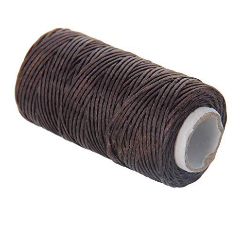 Utoolmart Crafts - Hilo de coser de cuero (1 mm, 50 m, 1 unidad, 1 mm), color marrón oscuro