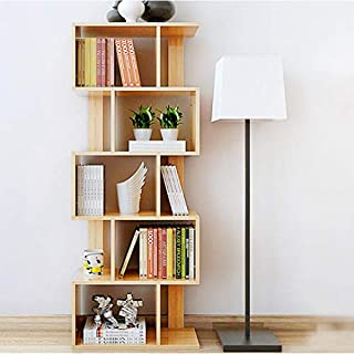 DL furniture - 4 Tiers Elegant Tree Designed Organizer Book Storage Shelves with a Freestanding Form | Gentle Ginger Wood Tone Finish