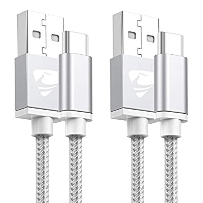 USB C Cable, [2-Pack 2M ] USB Type C Fast Charging Cable Lead Nylon Braided USB C Sync & Charger Cable for Samsung Galaxy S10 S9 S8 Plus A40 A50 A70 A20E S20 Plus, Huawei P20 P30 P9, Sony Xperia XZ