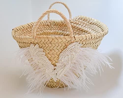 Mini Capazo Artesanal Muguet - cesto o bolso mimbre para novia o arras