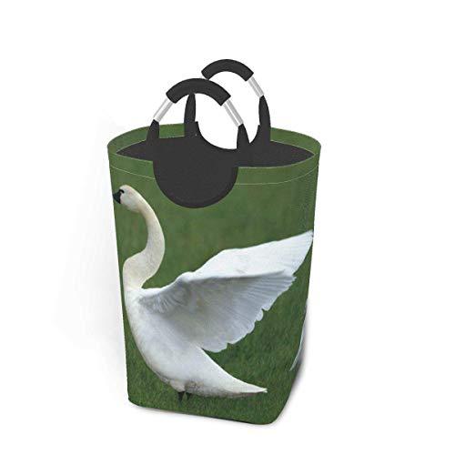 Cesto de almacenamiento para ropa sucia, diseño de cisne, hierba de bebé, grande, plegable, cesta de almacenamiento para ropa sucia, juguetes, libros