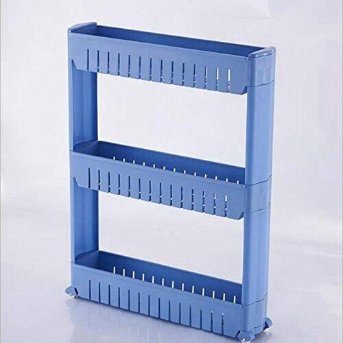 Moderne badkamer, eenvoudige bergruimte, keukenopbergruimte, afneembare plastic badkamerkast Blauw