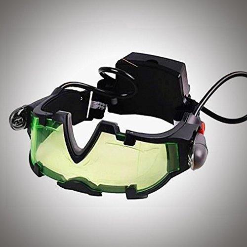Weitituoli Kinder Nachtsichtbrille, einstellbare Discovery Kids Nachtbrille mit Flip-Out Beleuchtung Grüne Linse