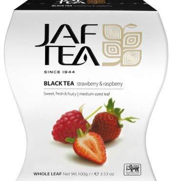 JAF TEA Schwarzer Tee - Erdbeere & Himbeere - Karton