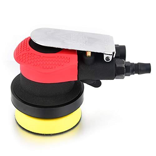 """Profi Druckluft Exzenterschleifer 75mm(3\""""), Schwerlast Multifunktional Druckluftschleifer mit Klettpolster, 10000 RPM, Autowachs- und Poliermaschine"""