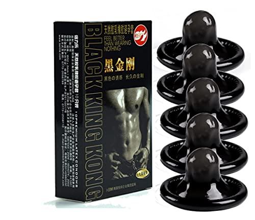 Condón Negro Duradero Ultrafino Condón De Látex Natural De Larga Duración Condón Lubricado Productos Sexuales Anticonceptivos Para Hombres 10 Paquetes
