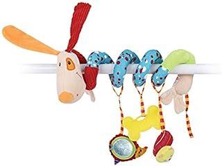 لعبة الأنشطة الحلزونية - ألعاب عربة أطفال للفتيات (الكلب) - ألعاب الأطفال حديثي الولادة - ألعاب كارسيت للرضع مع جهاز BB مد...