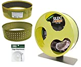 """Silent Runner 12"""" Wide + Cage Attachment + Autoclean Track + Sandy Track - Silent, Fast, Durable Exercise Wheel - Sugar Gliders, Degus, Rats, Hedgehogs, Prairie Dogs & Small Pets"""