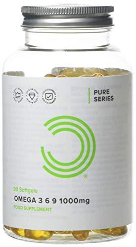 BULK POWDERS Omega 3 6 9 Softgels, Fish Oil, Flaxseed Oil, Sunflower Oil, 1000 mg, Pack of 90
