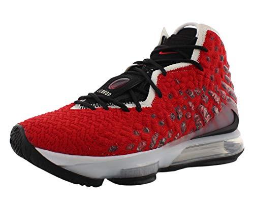Nike Lebron Xvii, Scarpe da Ginnastica Uomo, University Red/White/Black, 42.5 EU