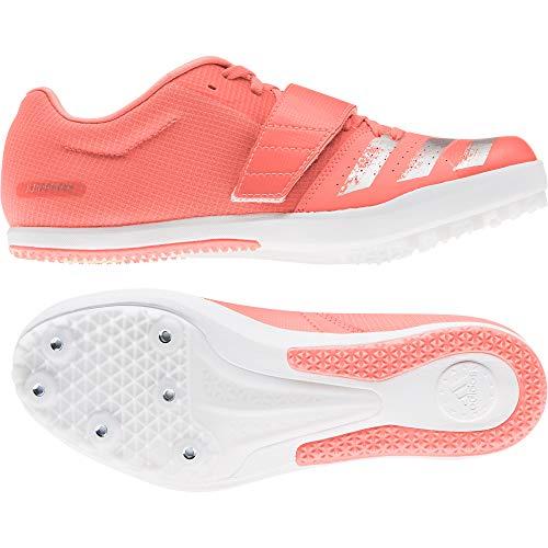 adidas Herren Jumpstar Leichtathletik-Schuh, Signal Coral White Silver Met FTWR, 44 EU