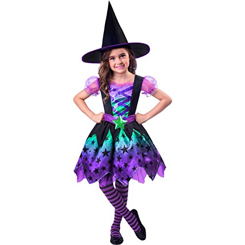 Amscan - Costume da strega per Halloween, da bambina