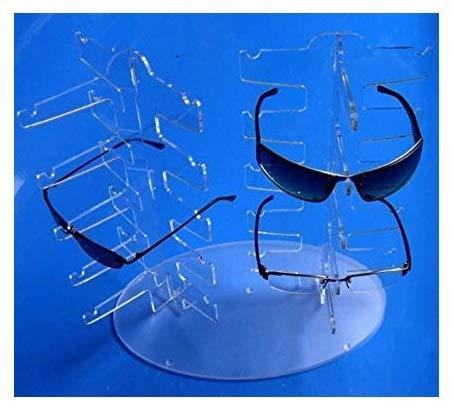 Acryl BRILLENSTÄNDER für 10 BRILLEN. Die RICHTUNG selbst bestimmen ! Brillenpräsenter Brillenablage Brillenaufsteller Verkaufsständer Brillenaufbewahrung Brillenregal für 10x Brillengestell / Brillenfassung . Brillendisplay Brillenhalter auch f. 3D Sonnenbrille