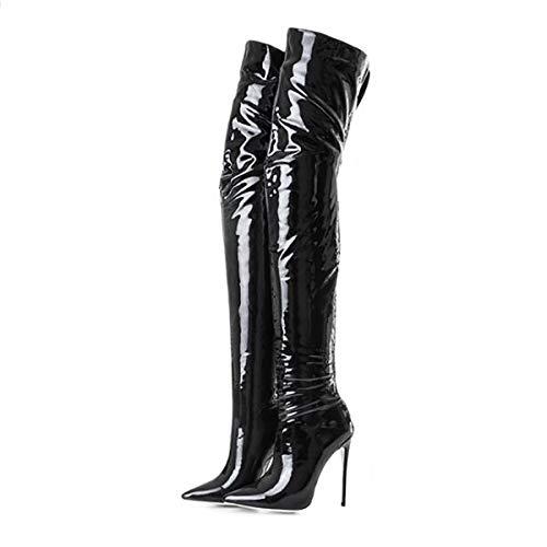 Vrouwen Enkellaarzen, Party Enkellaarzen Herfst Winter Casual Dames Schoenen Laarzen met Rits Womens Mid Calf Kant Rijden Casual Laarzen Schoenen