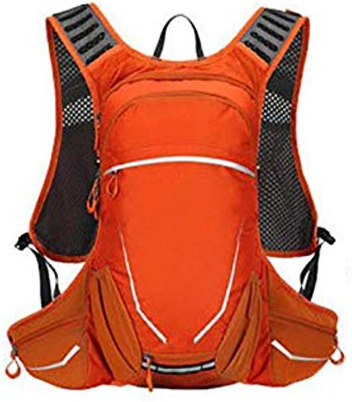 WY-AYNG Wasserdichter Outdoor-Fahrradrucksack, Bergsteigen Geschftsreise   Lernrucksack, Polyester Fabrik, Atmungsaktiv, Verschleifest, Reifest,Orange