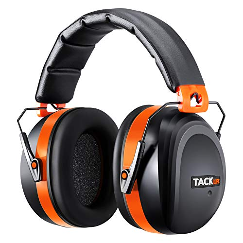 TACKLIFE Shooting Ear Protection for Gun Range, SNR 34dB Hearing Protection, Lightweight Comfortable Noise Cancelling Ear Muffs, Adjustable Noise Cancelling Headphones for Kids/Adults - HNRE1