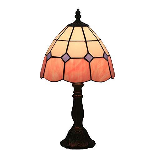 BDHBB Tiffany Style Table Lamps,8 Zoll Einfache Dekoration Retro gestecke Glastisch Lichter, für Wohnzimmer, Kinderzimmer Nachtlicht,...