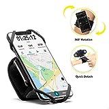 Carry Run Running Armband Phone Holder, Rotation360°&Detachable, Lightweight Sports Cell Phone Arm B