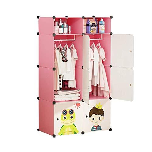Armoires GGJIN de Simples Enfants Full Accrocher Closet bébé Vêtements Hanging Porte coulissante Fille Princesse