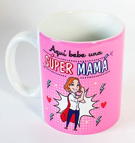 Taza Super Mama (Rosa)