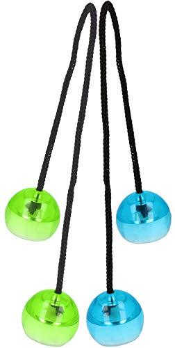 com-four® 2X Twist Finger Balls mit bunten LED-Effekten - Fidget Spielzeug - Anti Stress Handspielzeug - Geschicklichkeitsspiel für Jung und Alt [Auswahl variiert!] (02 Stück - LED Fingerspiel)
