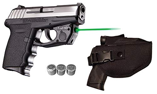 Laser Kit for SCCY CPX-1, CPX-2, CPX-3 w/ Holster, Touch-Activated ArmaLaser TR10-G Green Laser & 2 Extra Batteries