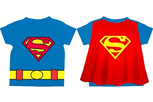 DC Comics Toddler Superman Shirt Superman Cape Tee Toddler Cape Shirt Superman Shirt-12-4T