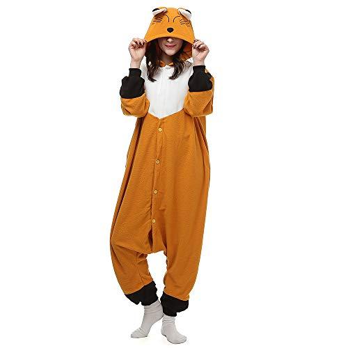 BGOKTA Disfraces de Cosplay para Adultos Pijamas de Animales Festivos Zorro, L