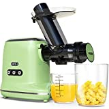 Juicer Machines, ORFELD Cold Press Juicer with 90% Juice Yield & Purest Juice, Easy Cleaning & Quiet...
