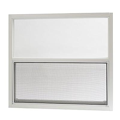 Park Ridge AMHW3027PR Aluminum Mobile Home Single Hung Window 30 Inch x 27 Inch, White