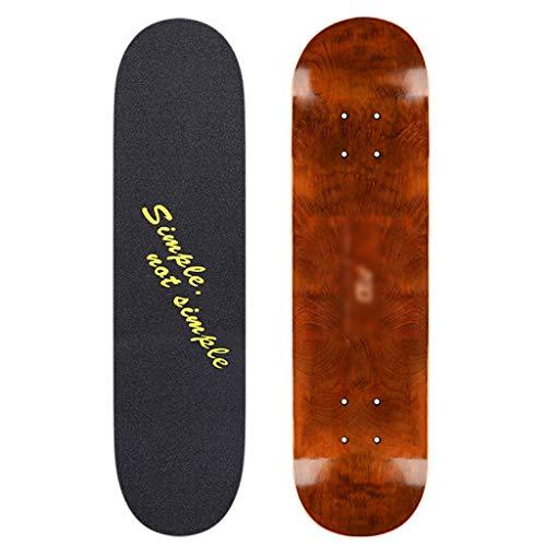 Skateboarden Anfänger Müssen Professionelles Erwachsenes Doppelt Gedrehtes Shortboard Männliches Und Weibliches Allrad Kinder (Color : A, Size : 80 * 20cm)