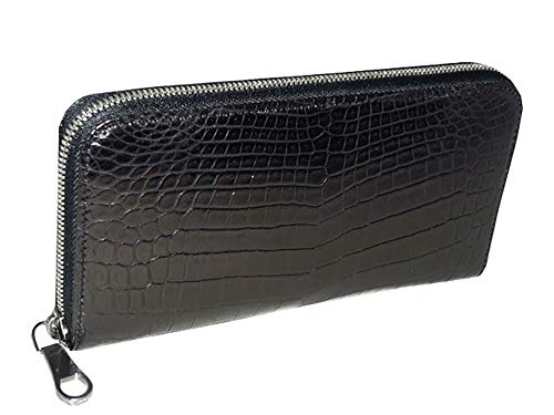 (ラゲージアオキ1894) Luggage AOKI 1894 青木鞄 クロコダイル ラウンドファスナー長財布 ブラック No.2483...