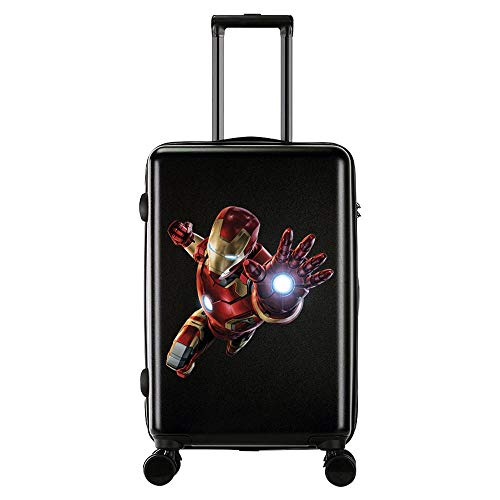 RGLTY Maleta Infantil Avengers Marvel Anime Iron Man Trolley Funda Material ABS + PC 3-18 Inches