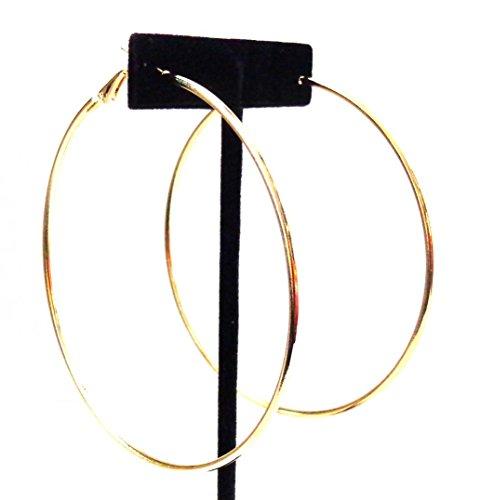 Large Hoop Earrings 3 Inch Hoop Earrings Gold Tone Hoop Earrings Simple Thin Hoops
