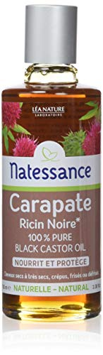 NATESSANCE Huile de Carapate Ricin Noir 100% Pure