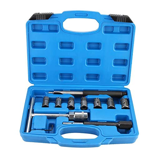 Conectores de terminales 10 unids Diesel Inyector Limpiador de Asiento Cortador Re-Face Score Tool Kit Inyector Limpiador Herramienta