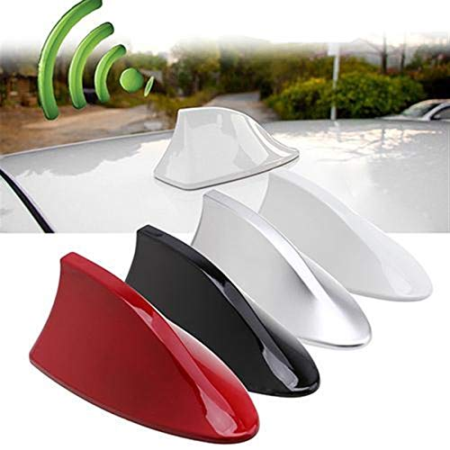 Hyzb 2020 Nuevo 1 Pc Universal FM Amplificador de señal Auto del Coche de Radio Antenas de Aleta de tiburón Coche Antena de Techo for Toyota Decoración for el Benz (Color : White)