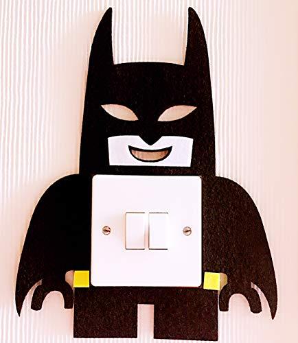 London Golden Swan 3D Lego Batman Light Switch Wall Sticker, Must Have For All Batman Fans! Premium Quality Felt Material! Kids Children Bedroom Nursery Decor!