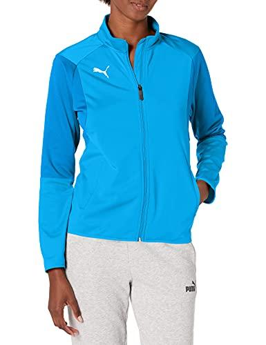 PUMA Damen Training Jacket Liga Trainingsjacke, Electric Blue Lemonadepuma Weiß, X-Large