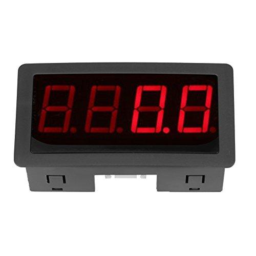 Nannigr Tacómetro Digital LED, Fuerte Capacidad antiinterferente Tacómetro Digital Conveniente para Instalar para Motocicletas Marinas ATV(Rojo)